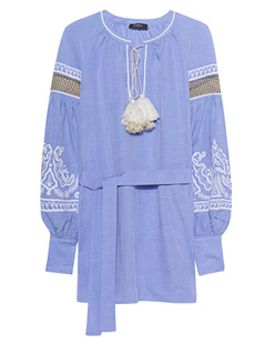Wandering Embroidered Tunic Blue