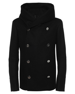 BALMAIN Hooded Black