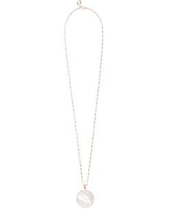 BRONZALLURE Alba Pearl Disc Necklace