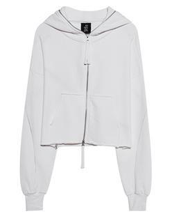 THOM KROM Cropped Hoodie Zip Off-White