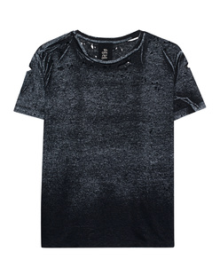 THOM KROM Destroyed Shirt Black