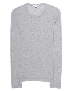 JAMES PERSE Sheer Slub Crew Heather Grey