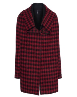 WOOLRICH W's Felted Merino Check Jacket Red