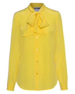 MOSCHINO Bow Silk Yellow