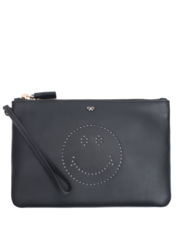 ANYA HINDMARCH Zip Top Pouch Black