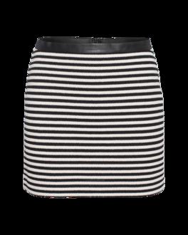 T BY ALEXANDER WANG Twisted Stripe Mini Black White