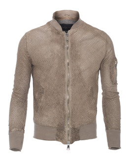 GIORGIO BRATO Cut Out Bomber Brown