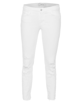 J BRAND 9326 Cropped Lowrise Demented White
