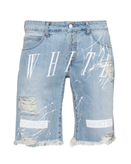 OFF-WHITE C/O VIRGIL ABLOH Loose Denim White Prints Blue