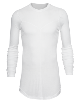 JULIUS Asymmetric Seam Long White