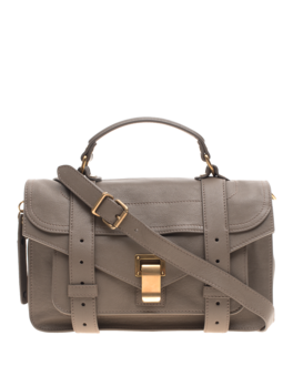 PROENZA SCHOULER PS1 Tiny Lux Smoke Taupe