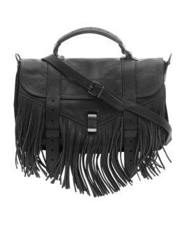 PROENZA SCHOULER PS1 Medium Fringe Lux Black