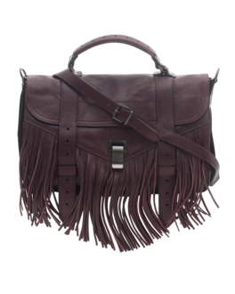 PROENZA SCHOULER PS1 Medium Fringe Lux Oxblood