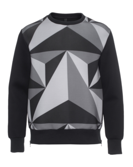 NEIL BARRETT Geometric Black