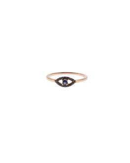 Priyanka Eye Rhinestone Black Gold