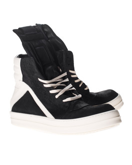 RICK OWENS Geobasket Black and White