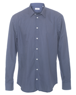 JOSEPH John Spot Shirting Navy