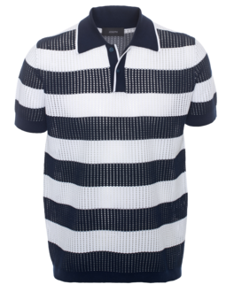 JOSEPH Polo Techno Navy White