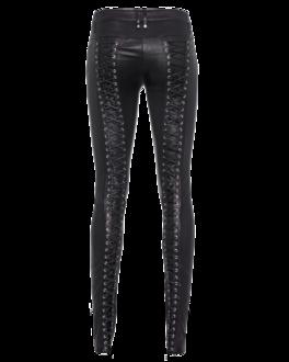 Plein Sud Pantaloni Biker Dos Lace Black