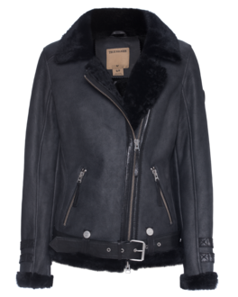 TRUE RELIGION Buckle Shearling Black
