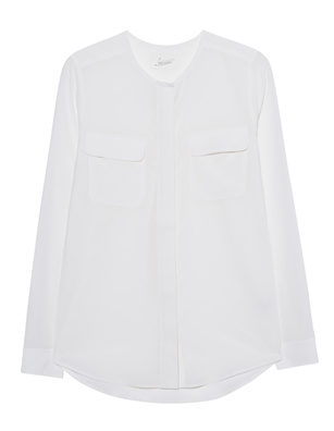 JADICTED Pocket Blouse Off-White