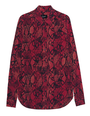 JADICTED Blouse Snake Red