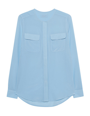JADICTED Pocket Blouse Lightblue