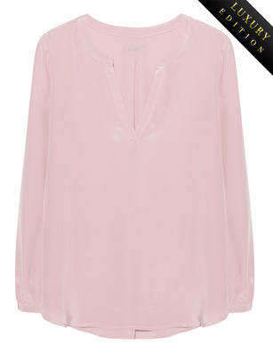 JADICTED Heavy Silk Tunic Rose