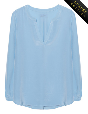 JADICTED Heavy Silk Tunic Lightblue