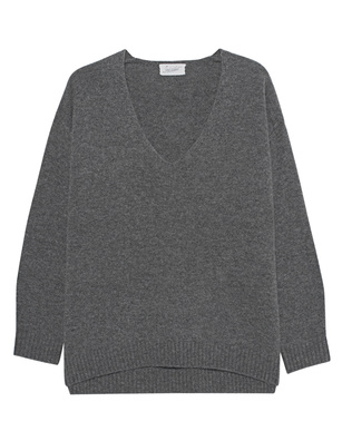 JADICTED Deep V Neck Grey