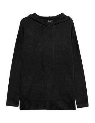 JADICTED Hood Knit Cashmere Black