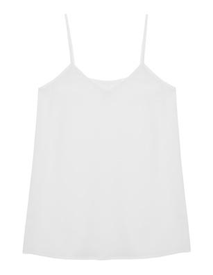 JADICTED Silk Top White
