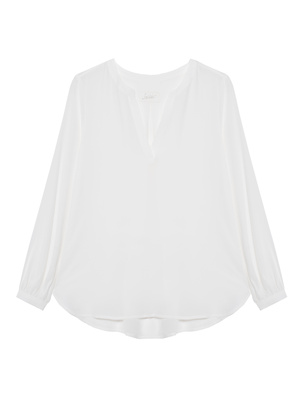 JADICTED V-Neck Silk White