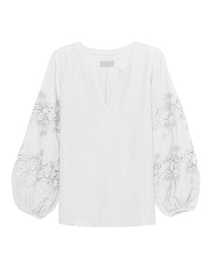 JADICTED Lace Blouse White