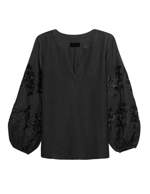 JADICTED Lace Blouse Black
