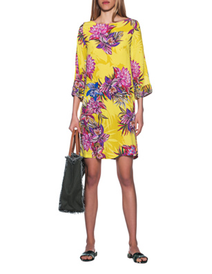 JADICTED Silk Dress Yellow