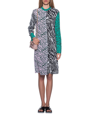 JADICTED Zebra Patch Dress Multicolor