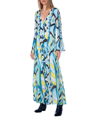 JADICTED Pattern Sleeve Multicolor Blue