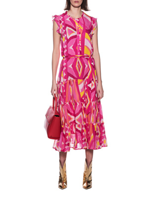 JADICTED Paint Dress Pink