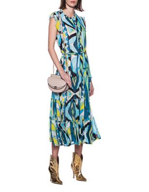 JADICTED Paint Dress Blue