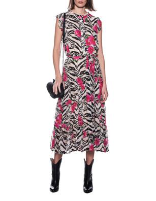 JADICTED Dress Flower Zebra