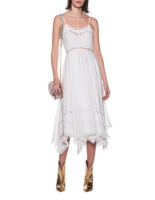 JADICTED Lace Dress Off-White