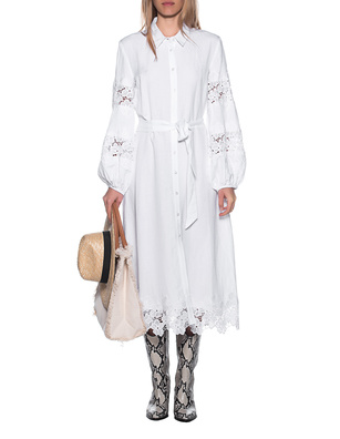 JADICTED Linen Dress White