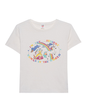 RE/DONE Classic Tee Busiest Woman Off-White