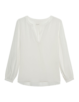 JADICTED V Neck Off White