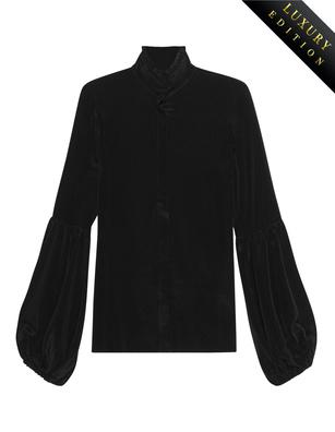 JADICTED Ruffles Silk Black