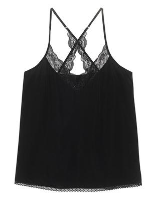 JADICTED Lace Silk Strap Black
