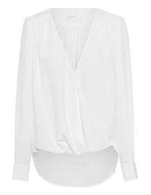 JADICTED V Neck Silk White