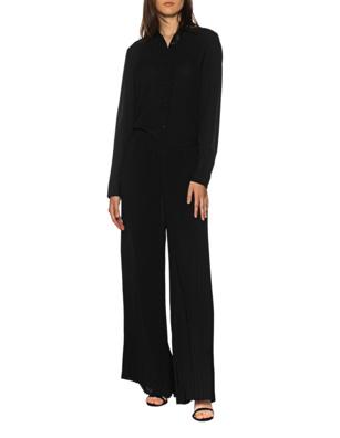 JADICTED Plissée Leg Shirt Black