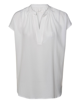JADICTED SILK V-NECK WHITE